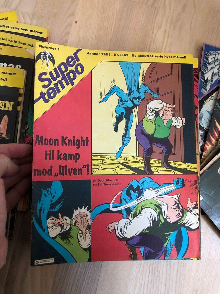 Super Tempo, Tegneserie