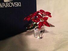 Swarovski Crystal Figurine-Poinsettia Star Christmas Tealight Holder-Excellent!!