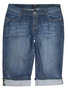 Lane-Bryant-Capri-Rolled-Cuff-Jeans-Stretch-Denim-Embellished-Pockets-Size-18