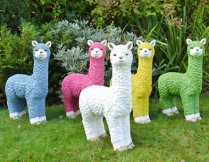 Llama Garden Statue Bright Colour Fun