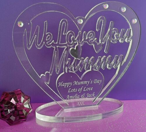 Personalised Freestanding Heart I Love You~ We Love You Mummy Mother/'s Day Gift
