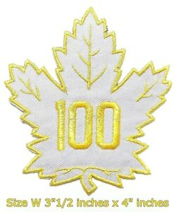 100-Years-TORONTO-Maple-leafs-NHL-Sport-Patch-Logo-Embroidery-Iron-Sewing-on