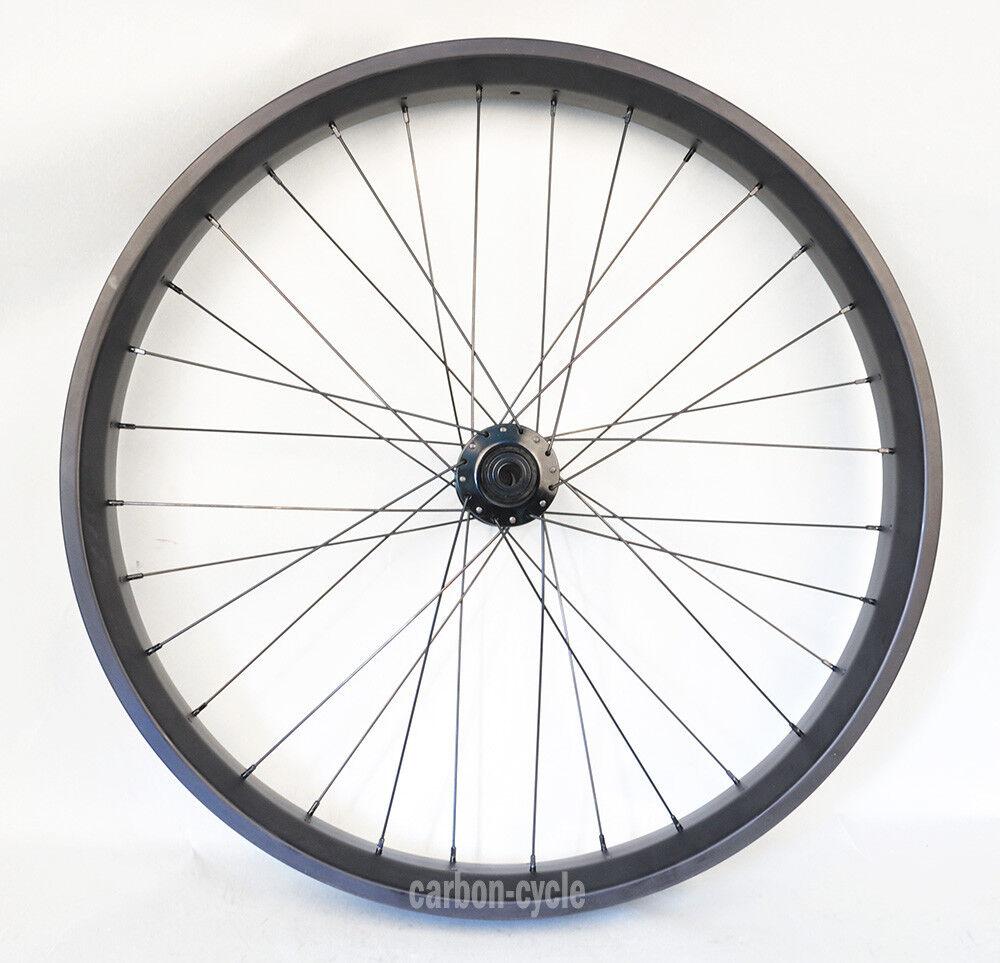 80mm  Carbon Fat Bike Front Wheel Clincher 26er Rim UD Matt MTB Snow qr thru axle  at cheap