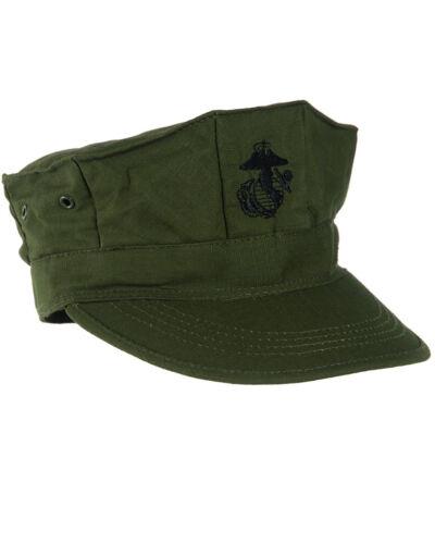 USMC Cap Fieldcap Feldmütze Army mit Marine Corps Insignia Gr XL Navy Seals WK2