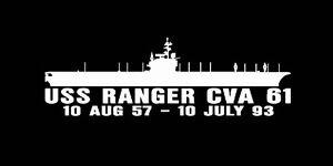 USS RANGER CVA 61 Parking Sign US Navy Military USN