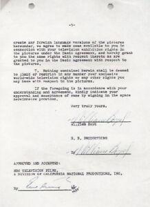 WILLIAM-BOYD-original-signed-2x-5-year-40-film-contract