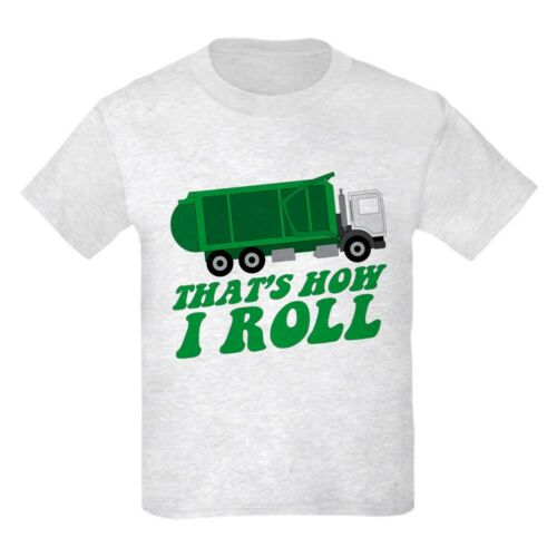 CafePress Garbage Truck T Shirt Kids Light T-Shirt 1610059478