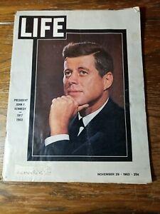 November 29th 1963 Life Magazine - Death Of President John F. Kennedy