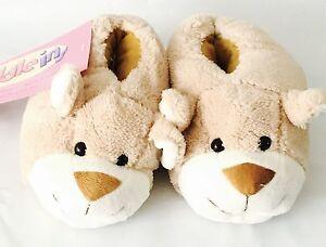 NEW Teddy Bear NOVELTY Girls SLIPPERS size 12 UK SELLER