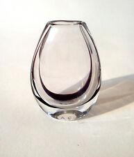 "50s Kosta contorno jarrón 1270 vicke lindstrand ""facit"" mid CENTURY Glass annees 50"