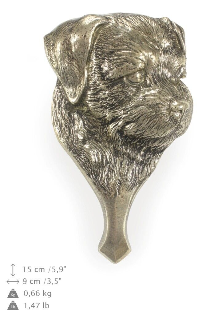 Border Terrier - brass knocker with image of a dog, Art Dog