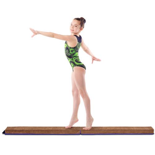 2,4M Gymnastik Schwebebalken Training zusammenfaltbar Strapazierfähig Kunstleder
