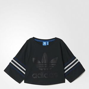 400dc2c8265 adidas Originals Women's Tennis Trefoil Logo Crop Top Tee T Shirt ...