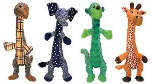 NEW-KONG-Shakers-Luvs-Elephant-Bird-Monkey-Giraffe-Plush-Squeaker-Large-Dog-Toy