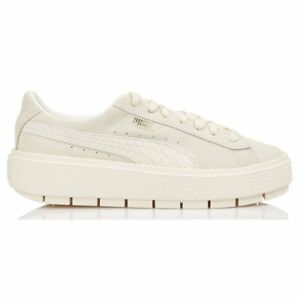 5af074a5e058 Image is loading Puma-Suede-Platform-Trace-Animal-Shoes-White-Women