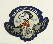 snoopy peanuts airplane tours patches Embroidered Sew On Patch