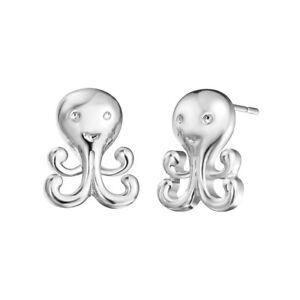 Image Is Loading Cute Octopus Stud Earrings For Women Jewelry Sea