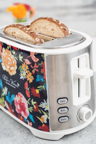 Pioneer Woman 2 Slice Toaster Extra-Wide Slot Fiona Floral By Hamilton Beach
