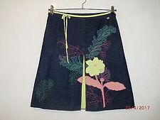 Ladies TED BAKER Denim Blue Floral Patch Skirt Size 3 UK 12 New without tags