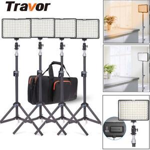 TRAVOR-4PCS-Kits-LED-Videoleuchte-Kameralicht-Studio-Beleuchtung-Licht-Stativ