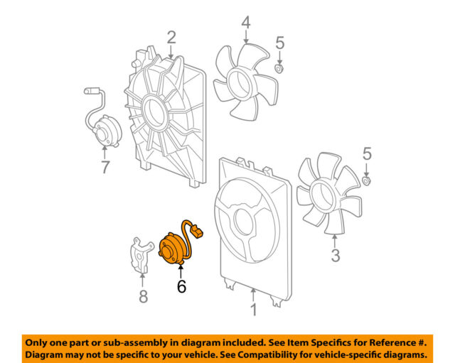 acura honda oem 07 10 mdx engine cooling fan motor 38616ryea01 ebay honda car engine parts diagram acura honda oem 07 10 mdx engine cooling fan motor 38616ryea01