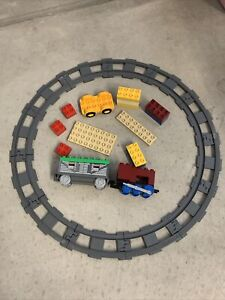 Lego Duplo Thomas And Friends Lot -Track 12 Rounded & 2 Train Cars 20+ Items