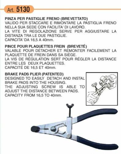 Pince à piston étrier plaquettes de frein Ø16,5-40mm BUZZETTI 5130