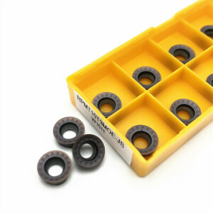 10x RPMT08T2M0E-JS VP15TF CNC Carbide Inserts Blade Lathe Milling Cutter Set