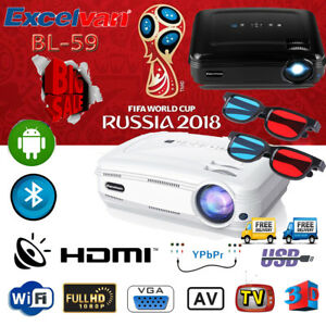 4K-Android6-0-1-8GB-Proyector-WiFi-BT-3D-1080P-Multimedia-Pantalla-del-proyector