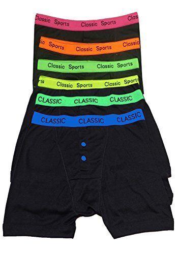 12 X Mens Neon Band Boxer Shorts Designer Cotton Rich Fashion Underwear Trunks