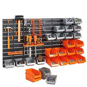 Image Is Loading VonHaus 44 Piece Pegboard Wall Mounted Panel Set