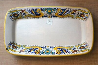 """Home & Hearth Deruta Ceramiche Serving Platter Made In Italy 12 3/4"""" X 7 3/8"""" Rare Pattern Choice Materials Other Antique Home & Hearth"""