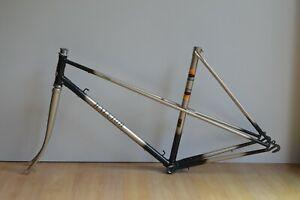 Vintage-Raleigh-Medale-Steel-Mixte-Road-Bike-21-034-Frame-amp-Fork-Champagne-amp-Brown