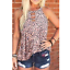 Women-Summer-O-Neck-T-Shirt-Leopard-Blouse-Casual-Beach-Tops-Sleeveless-Tank thumbnail 5