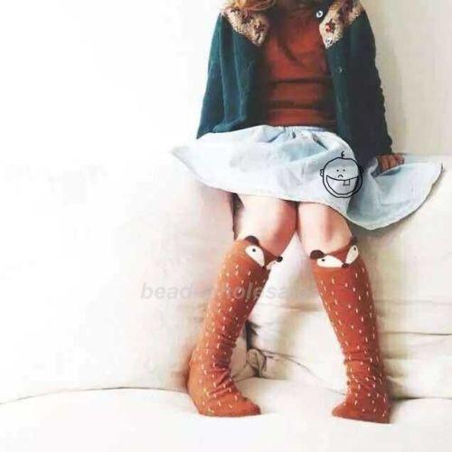 Baby Kids Girls Cotton Fox Tights Socks Stockings Pants Hosiery Pantyhose Cute