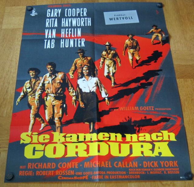 SIE KAMEN NACH CORDURA (Filmplakat '59) - GARY COOPER / RITA HAYWORTH