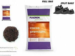 Plagron Cocos 10 25 o 50L Natural Fibra de Coco masiva rendimiento Hidroponía Coco crecer  </span>