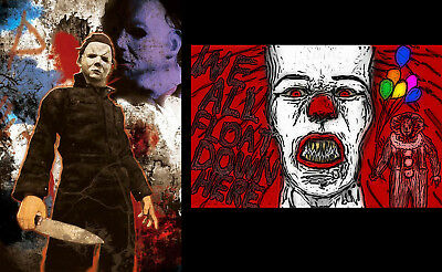 Trick /'r/' Treat Lot of 2 QualityPosters Pennywise Stephen King IT Jason Vorhees