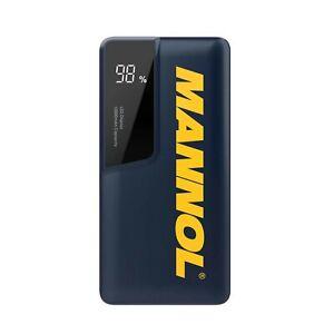 Mannol-LED-Display-Slim-Portable-10000mAh-Power-Bank-USB-Port-Type-C-Input-Black