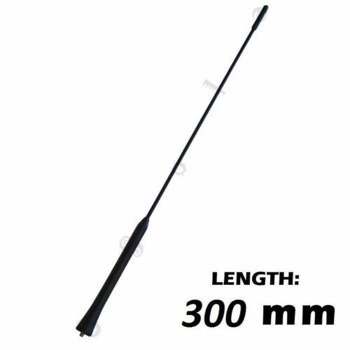 300mm Long Car Antenna Rod Replacement 5mm Thread Screw In Rubber Covered Aerial