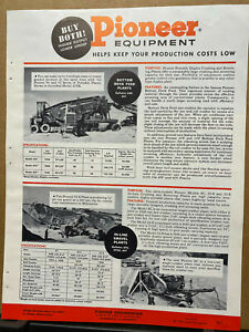 Vtg Pioneer Engineering Brochure ~ 1958 Quarry Plants Bituminous Paver Feeders