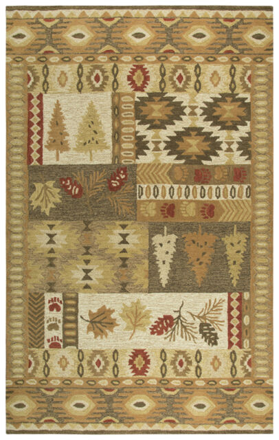 Rizzy Rugs Brown Leaves Wool Tufted Trees Southwestern Area Rug Floral Nwd105 For Sale Online