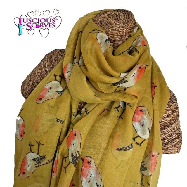 Ladies Womens  Scarf Tree Woods Woodland Leaf Shawl Wrap Hajib 3 Colours