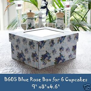 Cupcake Box Windowed Lid Holds 6 Cupcakes Stronger and Sturdy Boxes Deeper