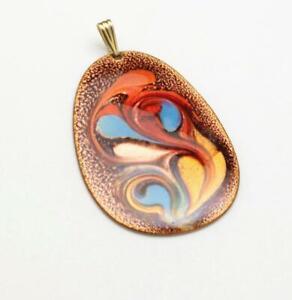 Copper Enameled Pendant