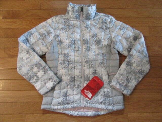 89304bed8 NORTH FACE GIRLS THERMOBALL FZ JACKET, TNF SNOWFLAKE FAIR ISLE PRINT, NWT