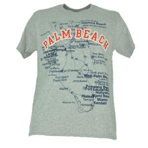 West Palm Beach Florida Map.Palm Beach Florida Fl Map Cities Gray Mens Tshirt Tee Short Sleeve