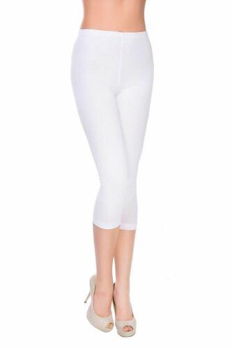 NUOVI Sandali Donna Plain Slim Fit cotone elasticizzato ATTIVA 3//4 Lunghezza Leggings Capri Pantaloni