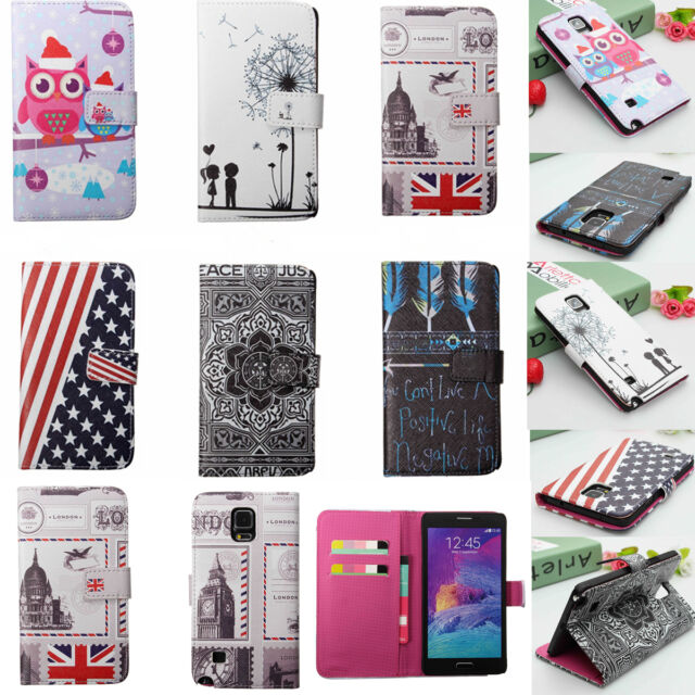 Magnetic Card Flip Leather Case Cover Stand For Samsung Note  4 Edge A3 A5 Alpha