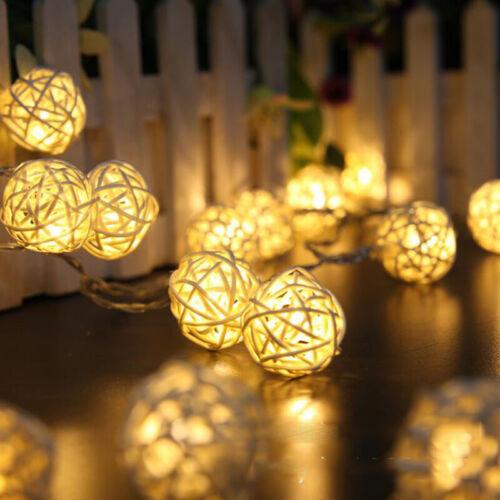 LED Lights Star Decoration Battery Rattan Ball Lamp String Fairy Light Gift